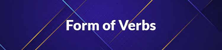 form of verbs